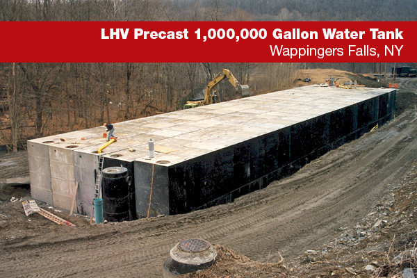 Million Gallon precast tank