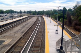 Belmont Park Train Station
