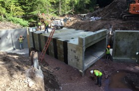 Culvert and Wingwall Installation in Andes, NY.